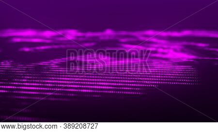Abstract Background With A Dynamic Wave. Network Connection Structure. Abstract Technology Flow Back