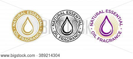Essential Oil Natural Fragrance, Oil Drop Vector Icon For Beauty And Skincare Products. Natural Frag