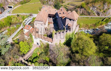 Runkelstein Castle Or Castel Roncolo Is A Medieval Fort On A Rocky Spur In Bolzano City In South Tyr