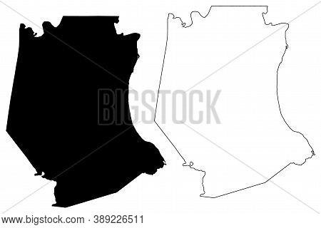 Jefferson County, Missouri (u.s. County, United States Of America, Usa, U.s., Us) Map Vector Illustr