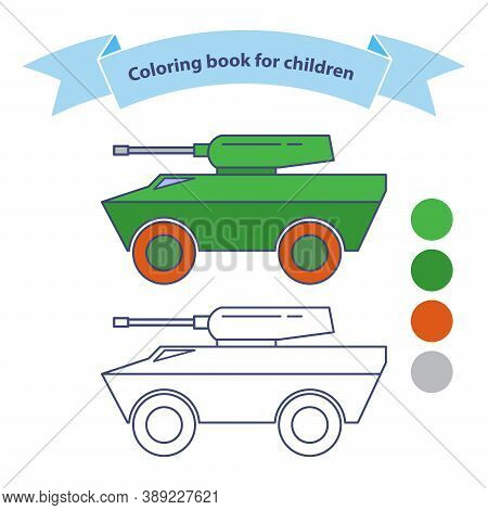 Infantry Fighting Vehicle. Military Toy Coloring Book For Children.