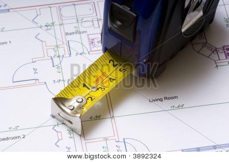 Tape Measure On Floor Plans