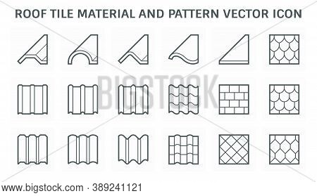 Roof Tile Or Roof Sheet Icon Many Shape, Texture And Pattern I.e. Wave, Wavy Etc. Made From Clay, Me