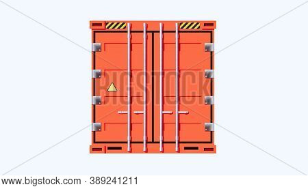 3d Rendering Of Cargo Container Or Shipping Container For Shipment Storage And Transport Goods Produ