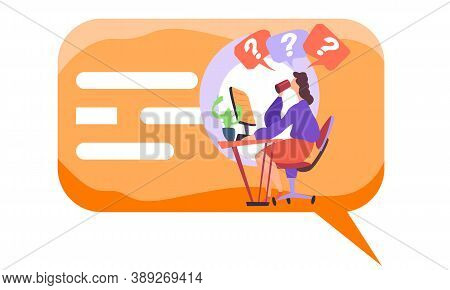 Concept Busy Woman Using Laptop, Doing Homework, Studying, Young Female Works Online. Freelancer, Wr