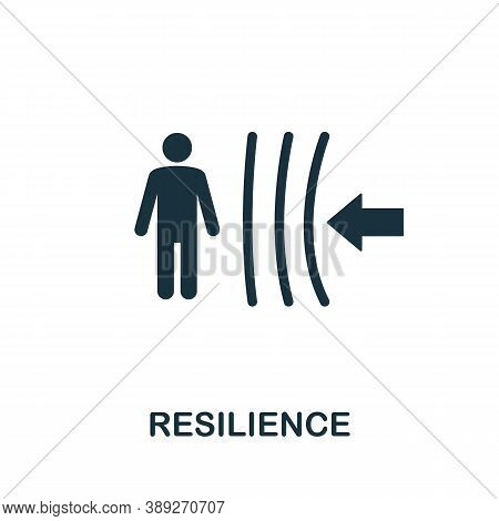 Resilience Icon. Simple Element From Life Skills Collection. Filled Resilience Icon For Templates, I