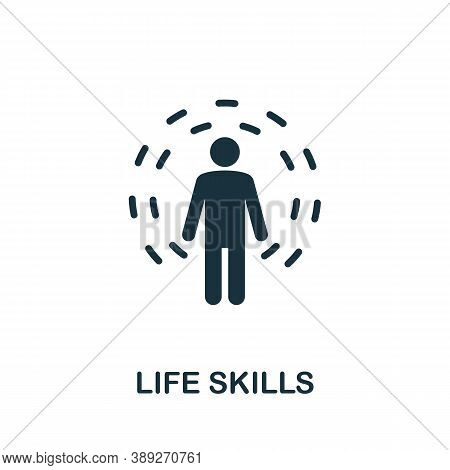 Life Skills Icon. Simple Creative Element. Filled Life Skills Icon For Templates, Infographics And M