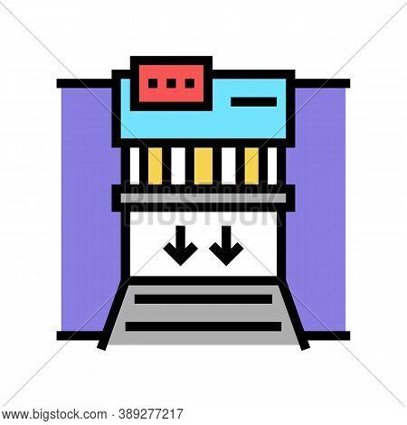 Garbage Factory Equipment Color Icon Vector. Garbage Factory Equipment Sign. Isolated Symbol Illustr
