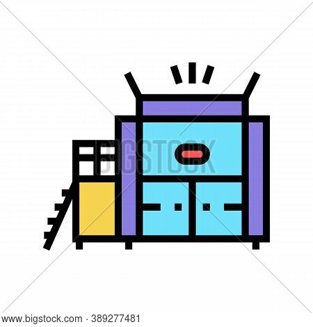 Waste Factory Machine Color Icon Vector. Waste Factory Machine Sign. Isolated Symbol Illustration