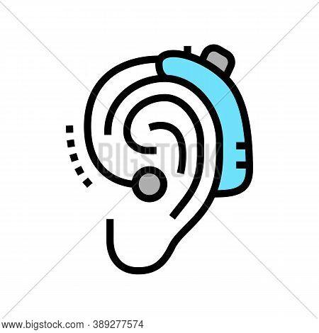 Gadget For Deaf Color Icon Vector. Gadget For Deaf Sign. Isolated Symbol Illustration