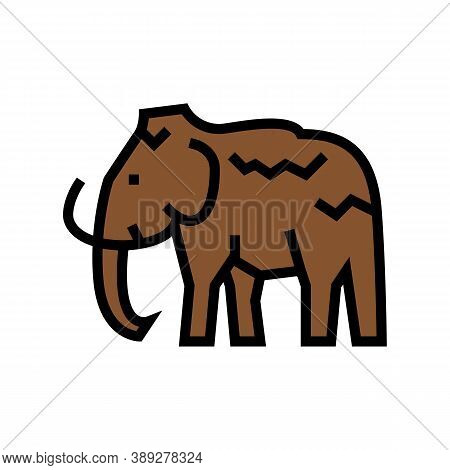 Mammoth Animal Color Icon Vector. Mammoth Animal Sign. Isolated Symbol Illustration
