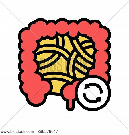 Intestines Transplant Color Icon Vector. Intestines Transplant Sign. Isolated Symbol Illustration