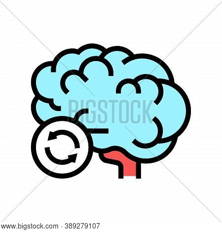 Brain Transplant Color Icon Vector. Brain Transplant Sign. Isolated Symbol Illustration