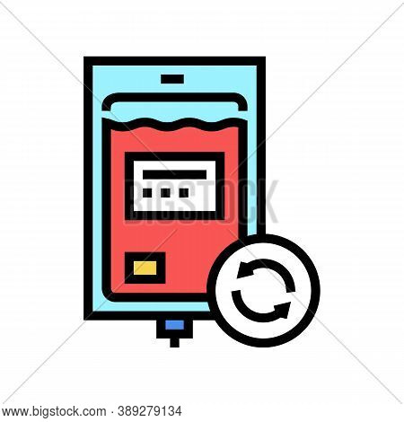 Blood Transfusion Color Icon Vector. Blood Transfusion Sign. Isolated Symbol Illustration