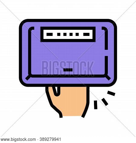 Manicur Ultra Violet Lamp Device Color Icon Vector. Manicur Ultra Violet Lamp Device Sign. Isolated