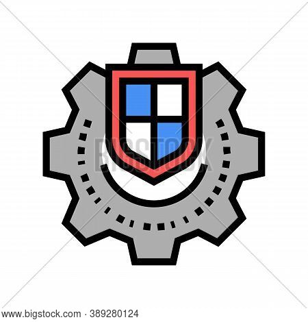 Mechanism Protection Color Icon Vector. Mechanism Protection Sign. Isolated Symbol Illustration