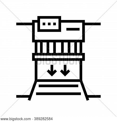 Garbage Factory Equipment Line Icon Vector. Garbage Factory Equipment Sign. Isolated Contour Symbol