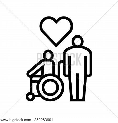 Invalid Assistance Line Icon Vector. Invalid Assistance Sign. Isolated Contour Symbol Black Illustra