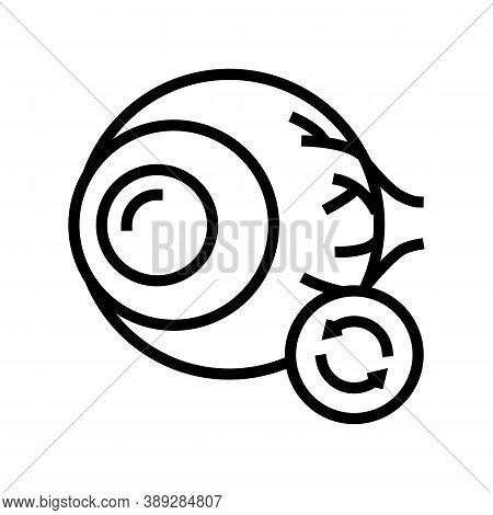 Eye Transplant Line Icon Vector. Eye Transplant Sign. Isolated Contour Symbol Black Illustration