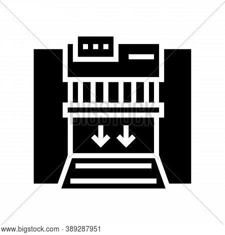 Garbage Factory Equipment Glyph Icon Vector. Garbage Factory Equipment Sign. Isolated Contour Symbol