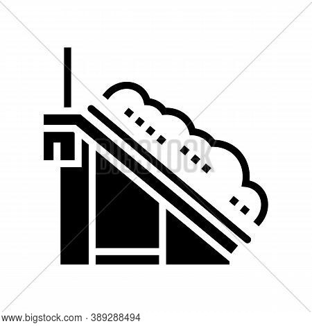 Waste Sorting Conveyor Belt Glyph Icon Vector. Waste Sorting Conveyor Belt Sign. Isolated Contour Sy