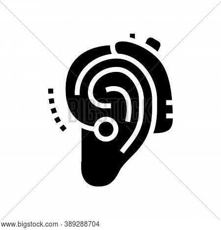 Gadget For Deaf Glyph Icon Vector. Gadget For Deaf Sign. Isolated Contour Symbol Black Illustration