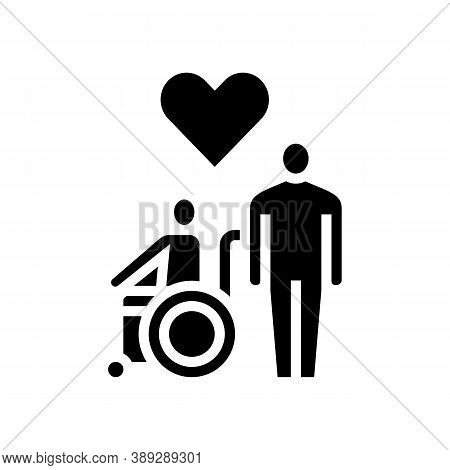 Invalid Assistance Glyph Icon Vector. Invalid Assistance Sign. Isolated Contour Symbol Black Illustr