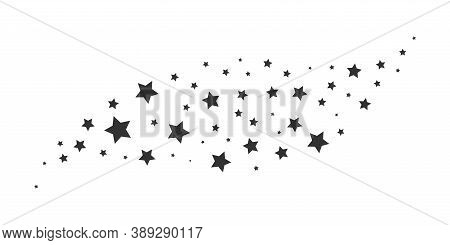 Black Star Silhouettes. Magic Random Decoration Effect For Christmas Birthday Or Wedding Cards, Conf