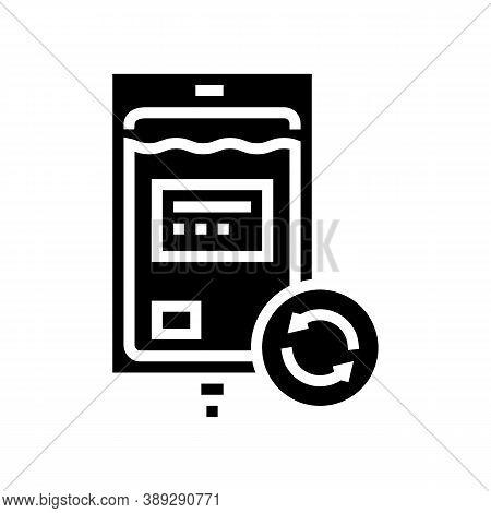 Blood Transfusion Glyph Icon Vector. Blood Transfusion Sign. Isolated Contour Symbol Black Illustrat