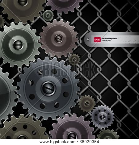 Vector abstract background with techno elements.