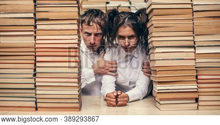 Love Couple. White Shirt. Couple Love. Book.