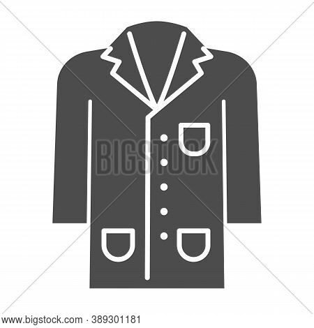 Medical Gown Solid Icon, Science And Medicine Concept, Laboratory Uniform Sign On White Background,