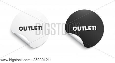Outlet Symbol. Round Sticker With Offer Message. Special Offer Price Sign. Advertising Discounts. Ci