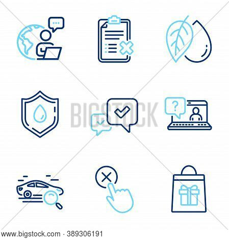 Business Icons Set. Included Icon As Holidays Shopping, Faq, Approve Signs. Reject Checklist, Minera