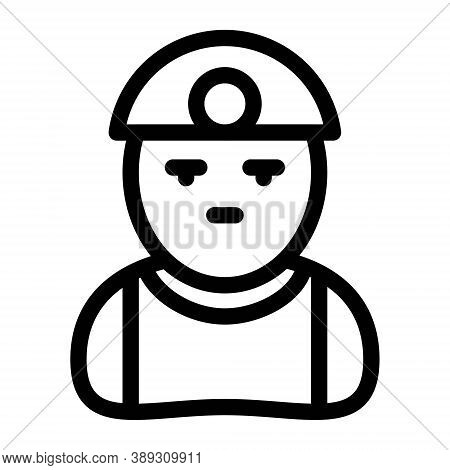 Worker Icon. Construction Worker, Architect, Civil Engineer Symbol. Labour Force Concept.