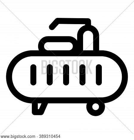 Gas Cistern Icon. Cylinder Gas Tank, Fuel Tank Symbol
