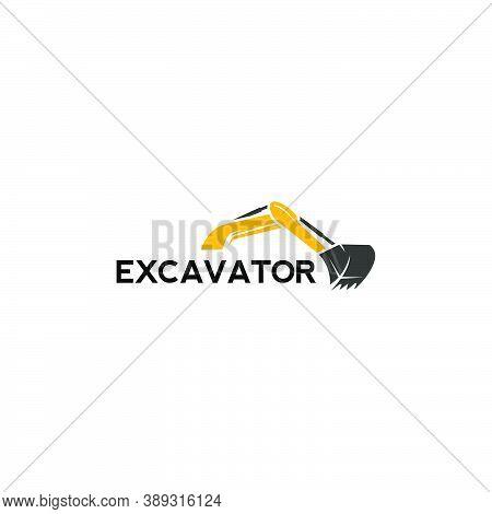 Excavator Heavy Equipment Logo Design