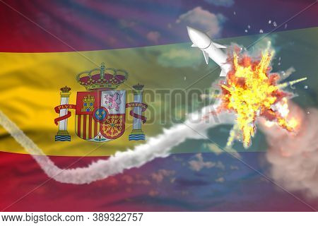 Strategic Rocket Destroyed In Air, Spain Supersonic Missile Protection Concept - Missile Defense Mil