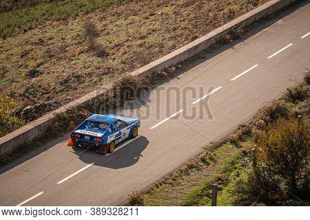 Col De San Colombano, Corsica, France - 8th October 2020: Ronny Motereau & Pascal Bonnet Compete In