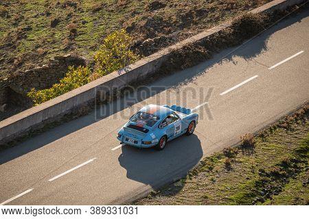 Col De San Colombano, Corsica, France - 8th October 2020: Thierry Parisot & Carole Piraube Compete I