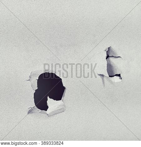A Wall In A House Punched By A Hand Fist, Lifestyle Close Up