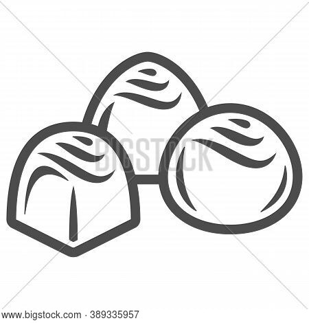 Chocolates Line Icon, Chocolate Festival Concept, Chocolate Candies Sign On White Background, Chocol