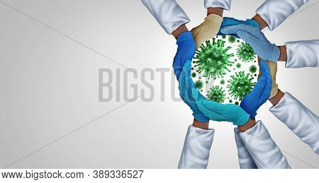 Infection Prevention Health And Medicine Concept As Diverse Medical Workers As Doctor And Nurse Hand