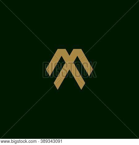Letter M Initial Symbol Logo Design Vector Template