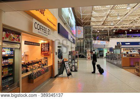 Birmingham, Uk - April 24, 2013: Travelers Visit Birmingham International Airport, Uk. With 8.9 Mill