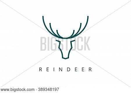 Reindeer Horn Logo For Business, Sports, Shopping Brand.