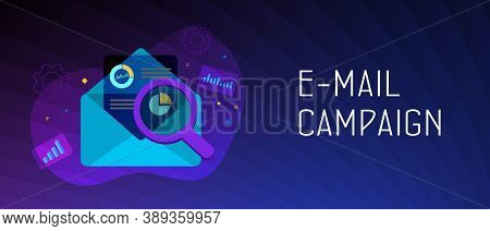Email Campaign Digital Marketing Concept. Inbound Or Outbound Advertisement Business Strategy. An Op