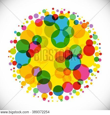 Bright Colorful Background. Isolated Abstract Graphic Design Template. Colored Ball. Trendy Decorati