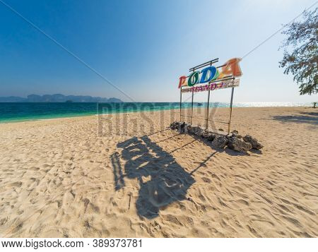 Krabi, Thailand - February 14 2020: Poda island in Krabi thailand