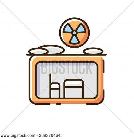 Fallout Shelter Rgb Color Icon. Nuclear Explosion. Protection From Radioactive Debris. Civil Defense